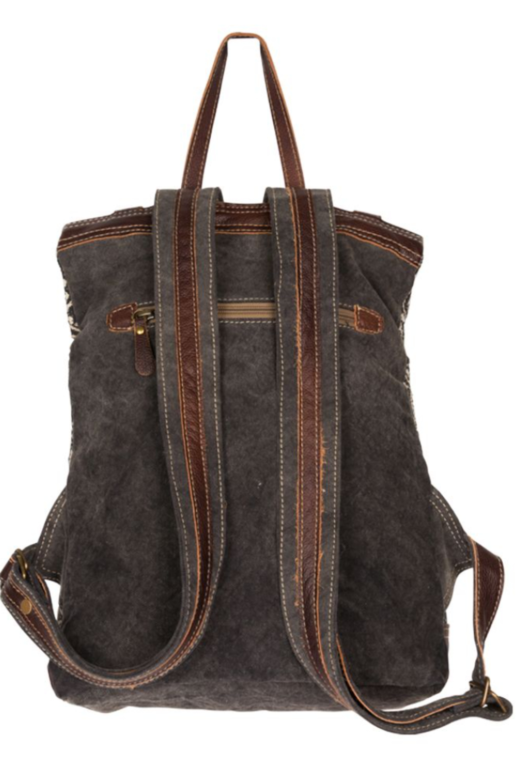 Myra bag  Vibe With Me Cowhide Backpack Bag - Side Cropped Image