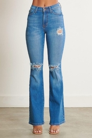 Vibrant Distressed Flare Jeans - Other