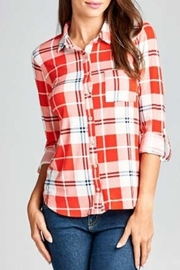DNA Couture Vibrant Plaid Top - Product Mini Image