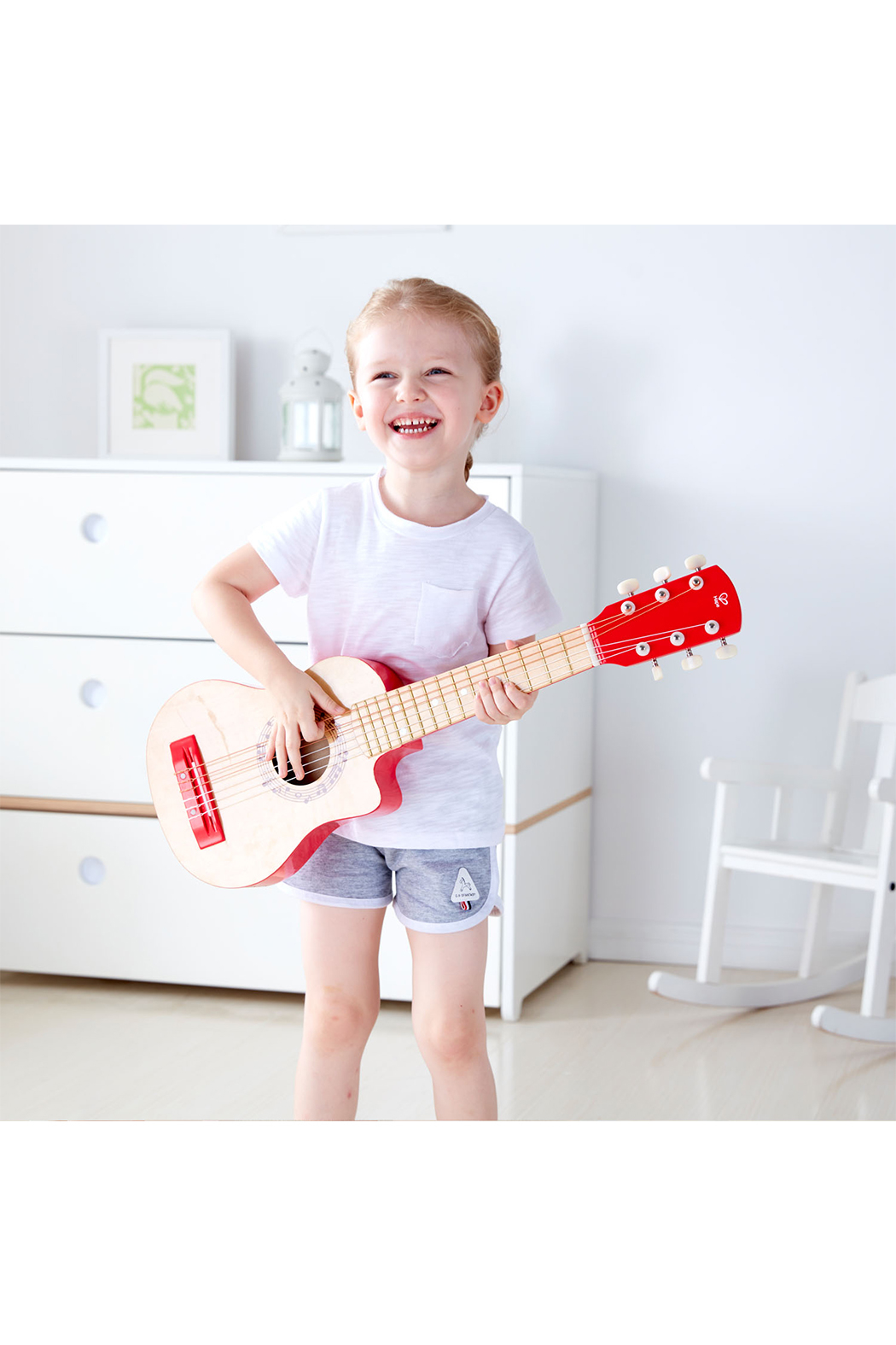 Hape  Vibrant Red Guitar - Front Full Image