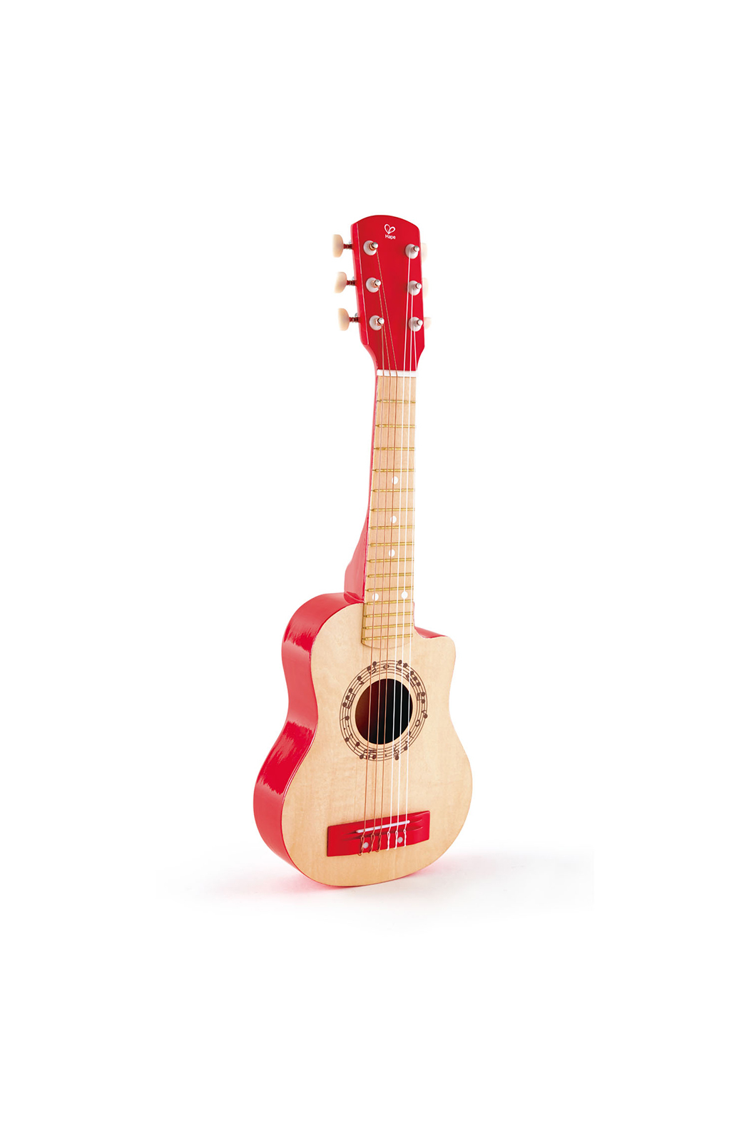 Hape  Vibrant Red Guitar - Front Cropped Image