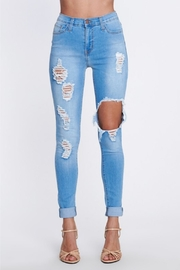 Vibrant MIU Distressed Tencel Skinny - Product Mini Image