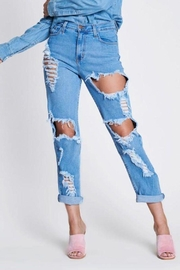 Vibrant MIU Highrise Distressed Jeans - Product Mini Image