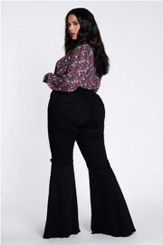 Vibrant MIU Plus Size Flare Pants - Front full body
