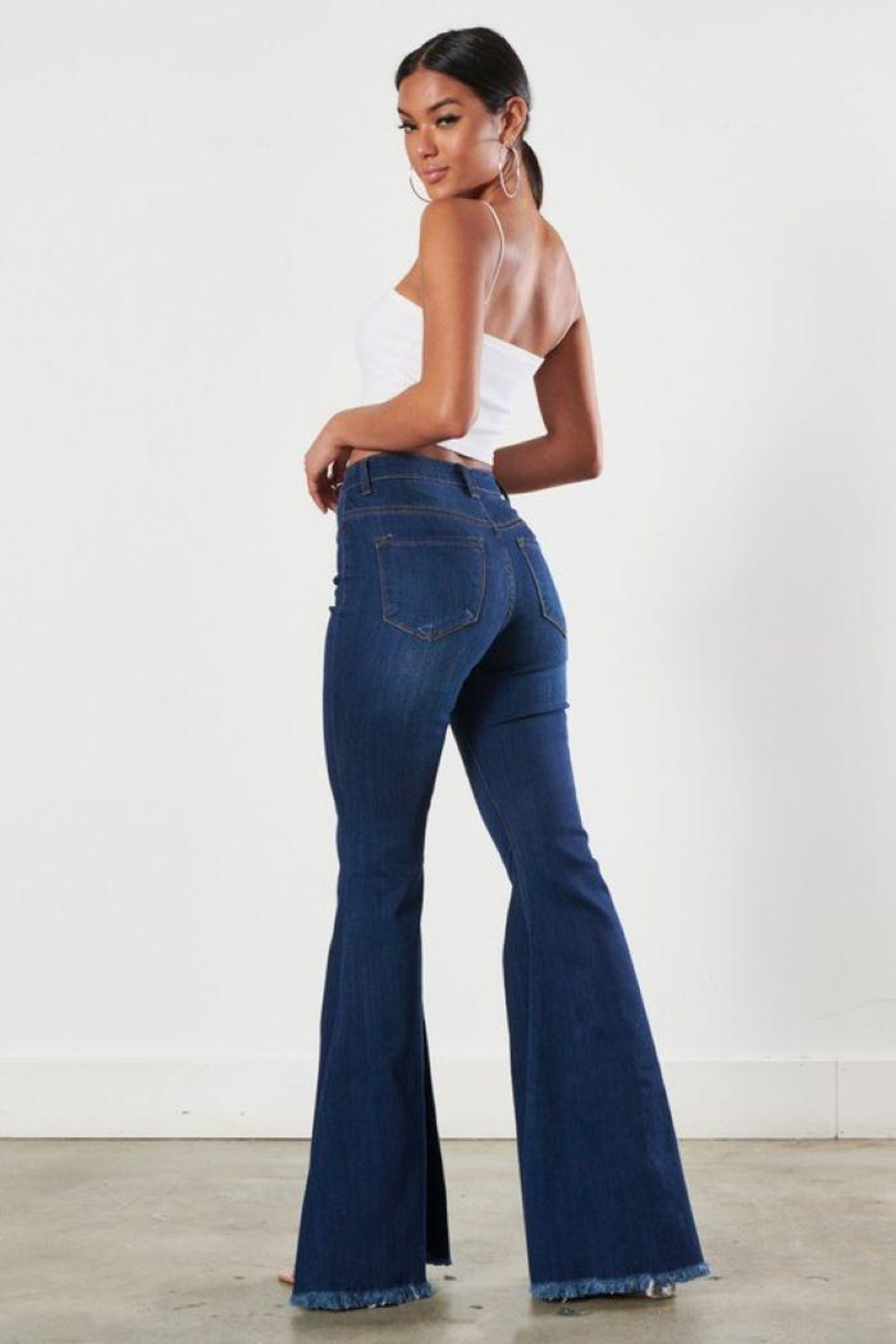 Vibrant MIU Wide Leg High Rise Jeans - Side Cropped Image
