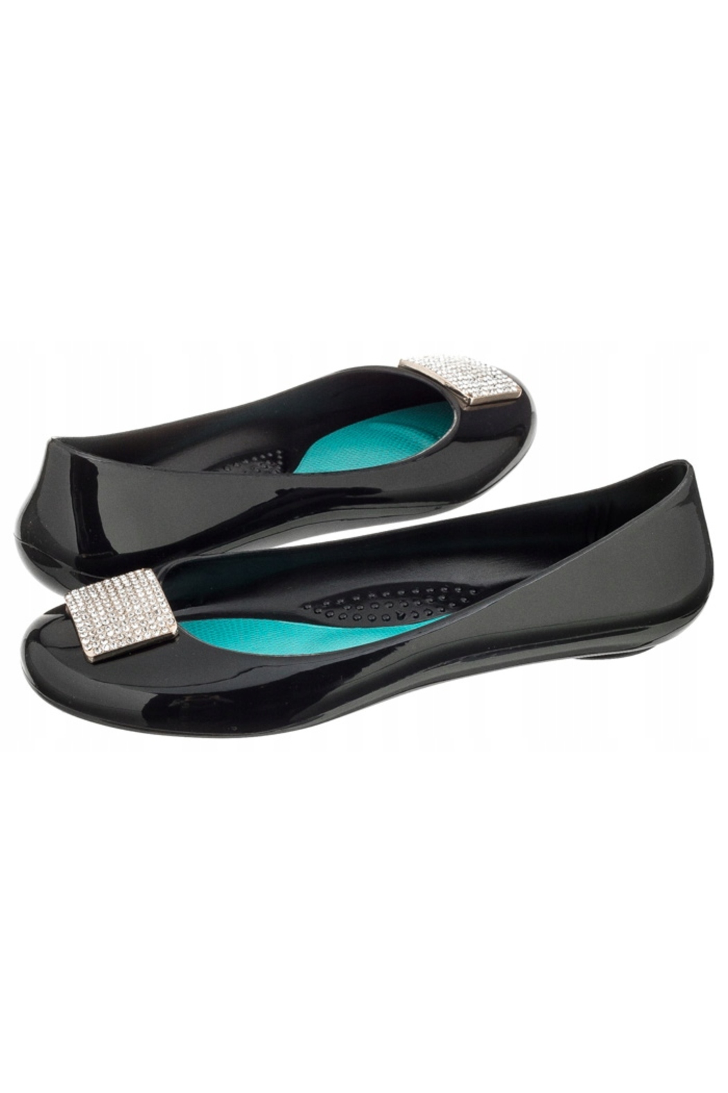 The Birds Nest VICTORIA BALLET FLATS-LICORICE SZ 7 - Front Cropped Image