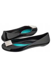 The Birds Nest VICTORIA BALLET FLATS-LICORICE SZ 7 - Front cropped