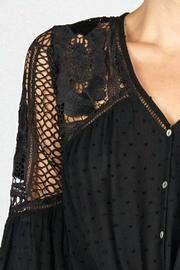 Lovestitch VICTORIA BLOUSE BLACK - Side cropped