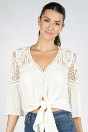 Lovestitch VICTORIA BLOUSE NATURAL - Front cropped