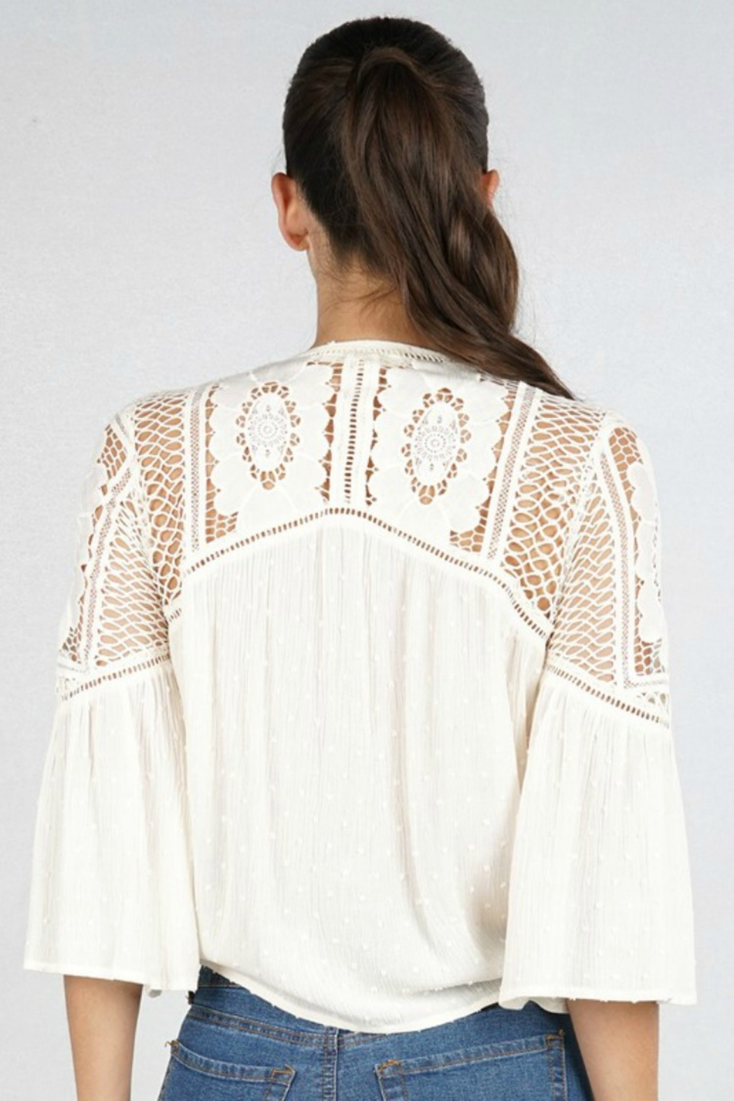 Lovestitch VICTORIA BLOUSE NATURAL - Front Full Image