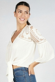 Lovestitch VICTORIA BLOUSE NATURAL - Back cropped