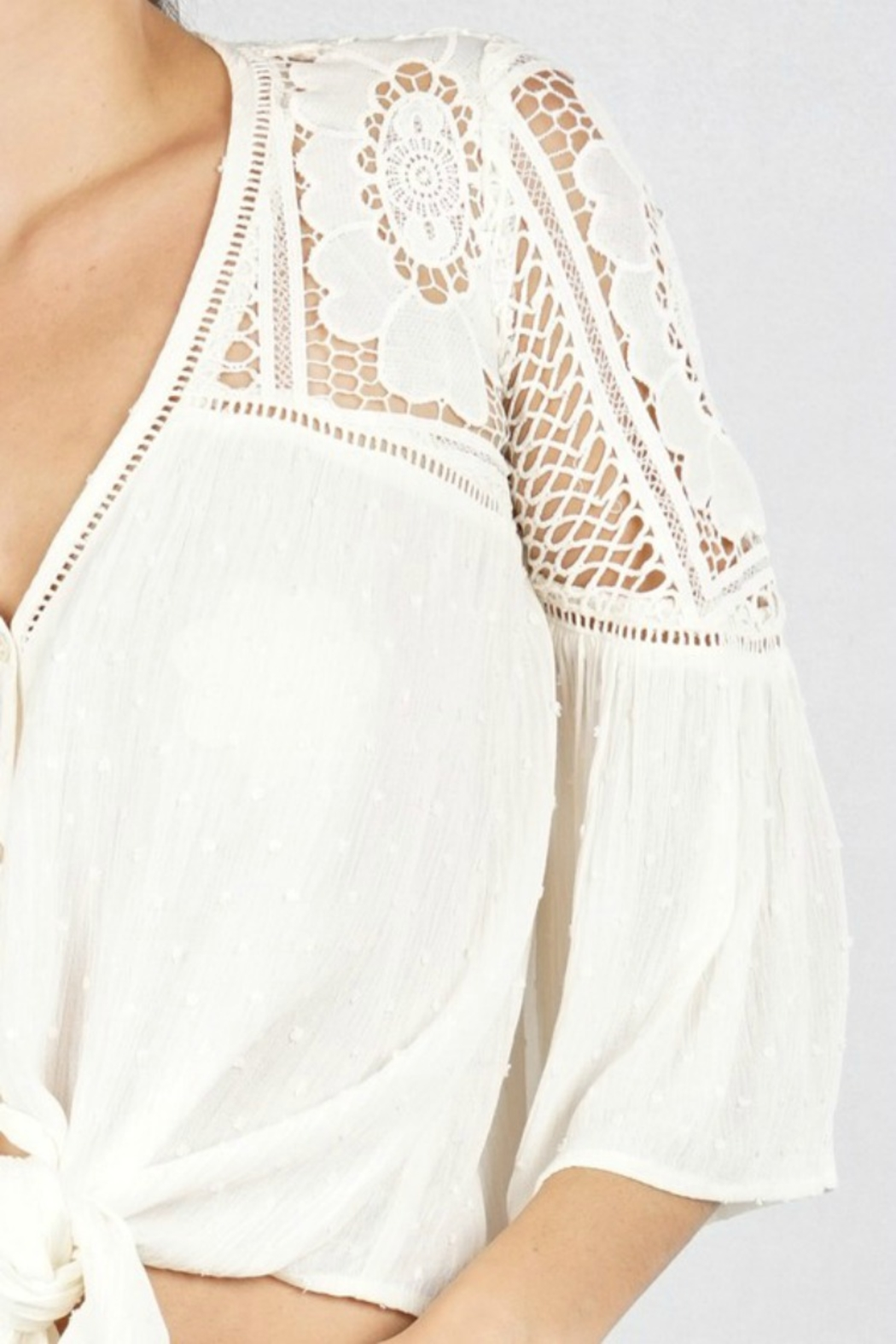Lovestitch VICTORIA BLOUSE NATURAL - Side Cropped Image