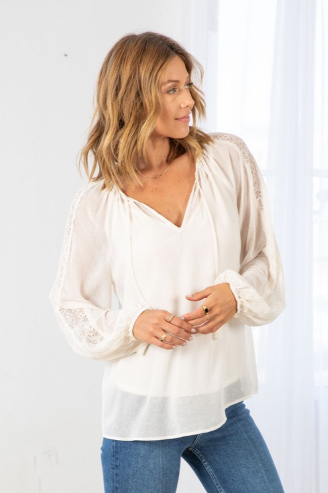 Lovestitch Victoria Blouse - Front Cropped Image