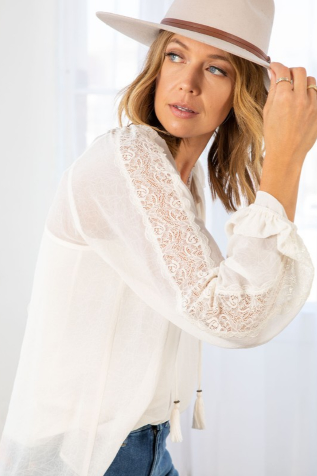 Lovestitch Victoria Blouse - Side Cropped Image