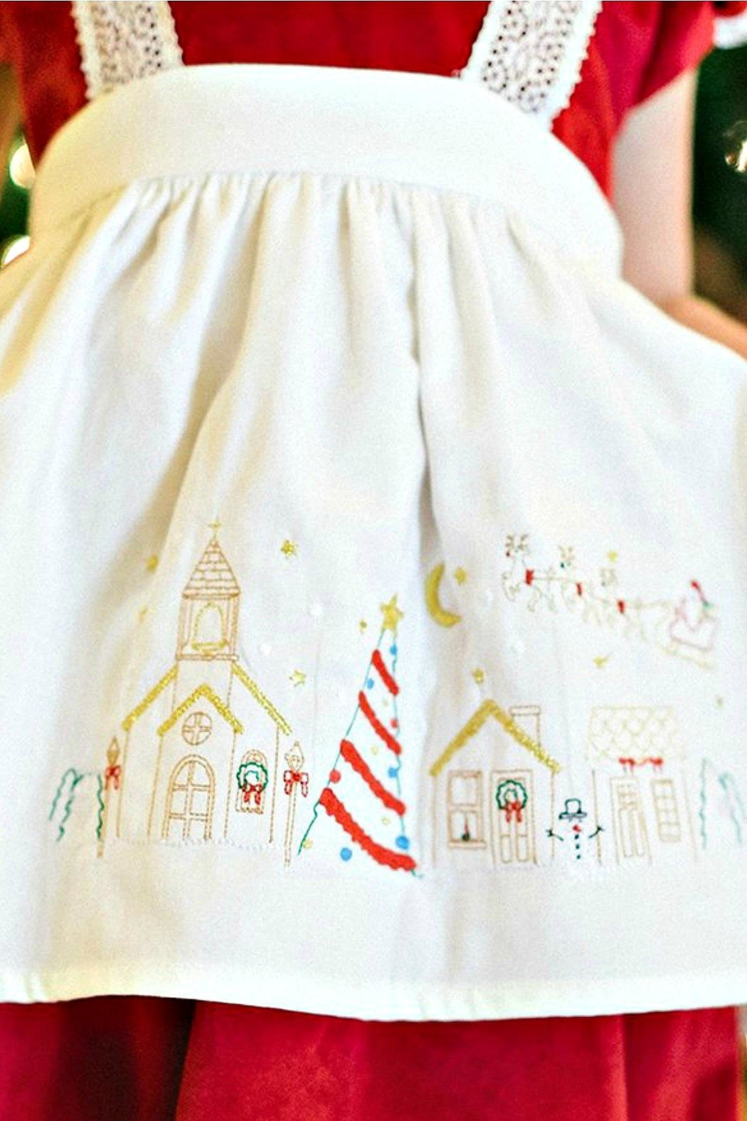 Dondolo Victoria-Christmas-Village-Apron - Side Cropped Image
