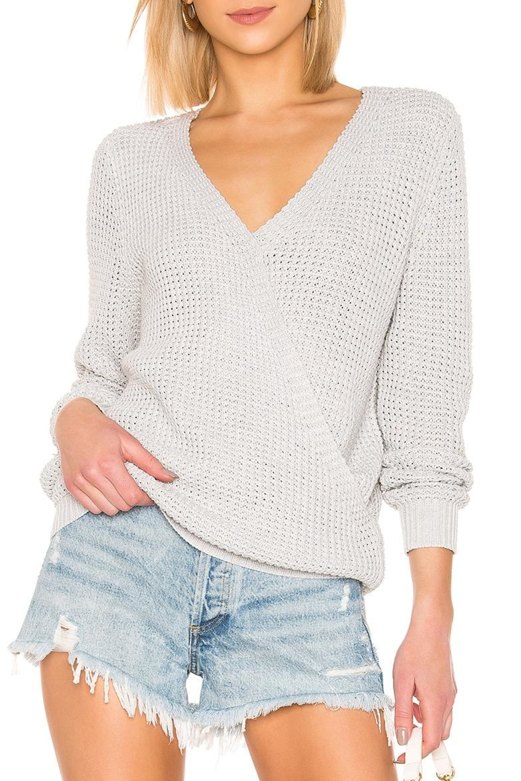 Mink Pink Victoria Cross-Over Sweater - Main Image