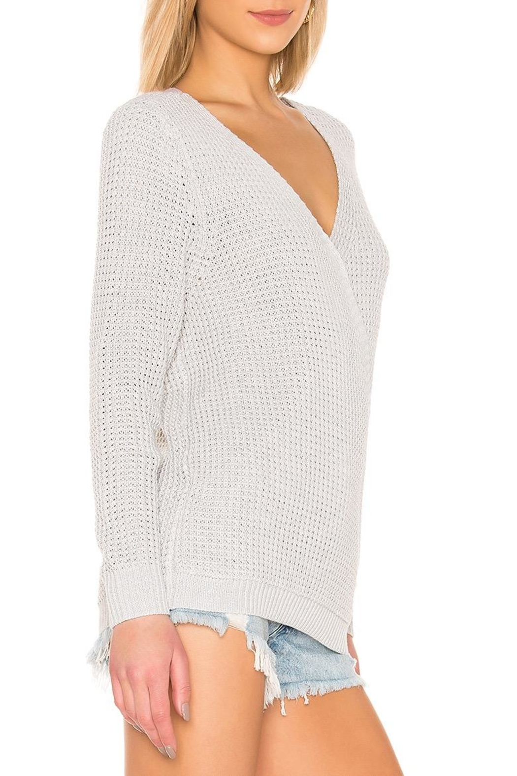 Mink Pink Victoria Cross-Over Sweater - Front Full Image