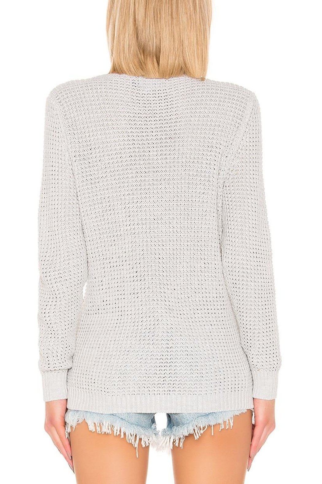 Mink Pink Victoria Cross-Over Sweater - Side Cropped Image