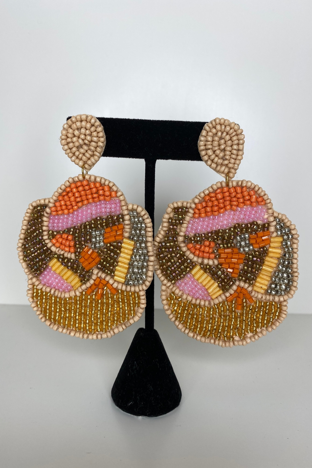 Adriana Bijoux Victoria Seed Beads Earrings - Front Cropped Image