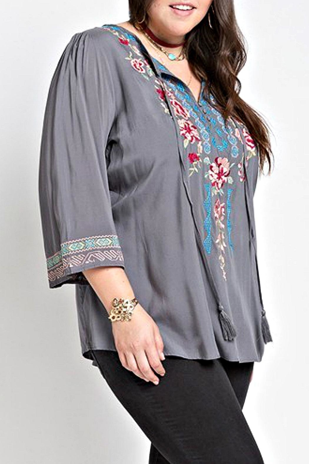 Izzie's Boutique Victoria Embroidered Blouse - Main Image