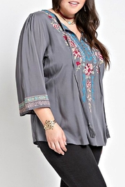 Izzie's Boutique Victoria Embroidered Blouse - Front cropped
