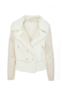 SAGE THE LABEL Victoria Fuzzy Moto Jacket - Product List Image