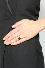 Victoria Greenhood Jewelry Design Black Druzy Ring - Back cropped