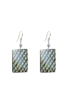 Shoptiques Product: Oyster Shell Earrings