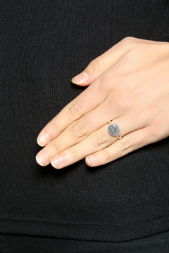 Shoptiques Product: Silver Druzy Ring