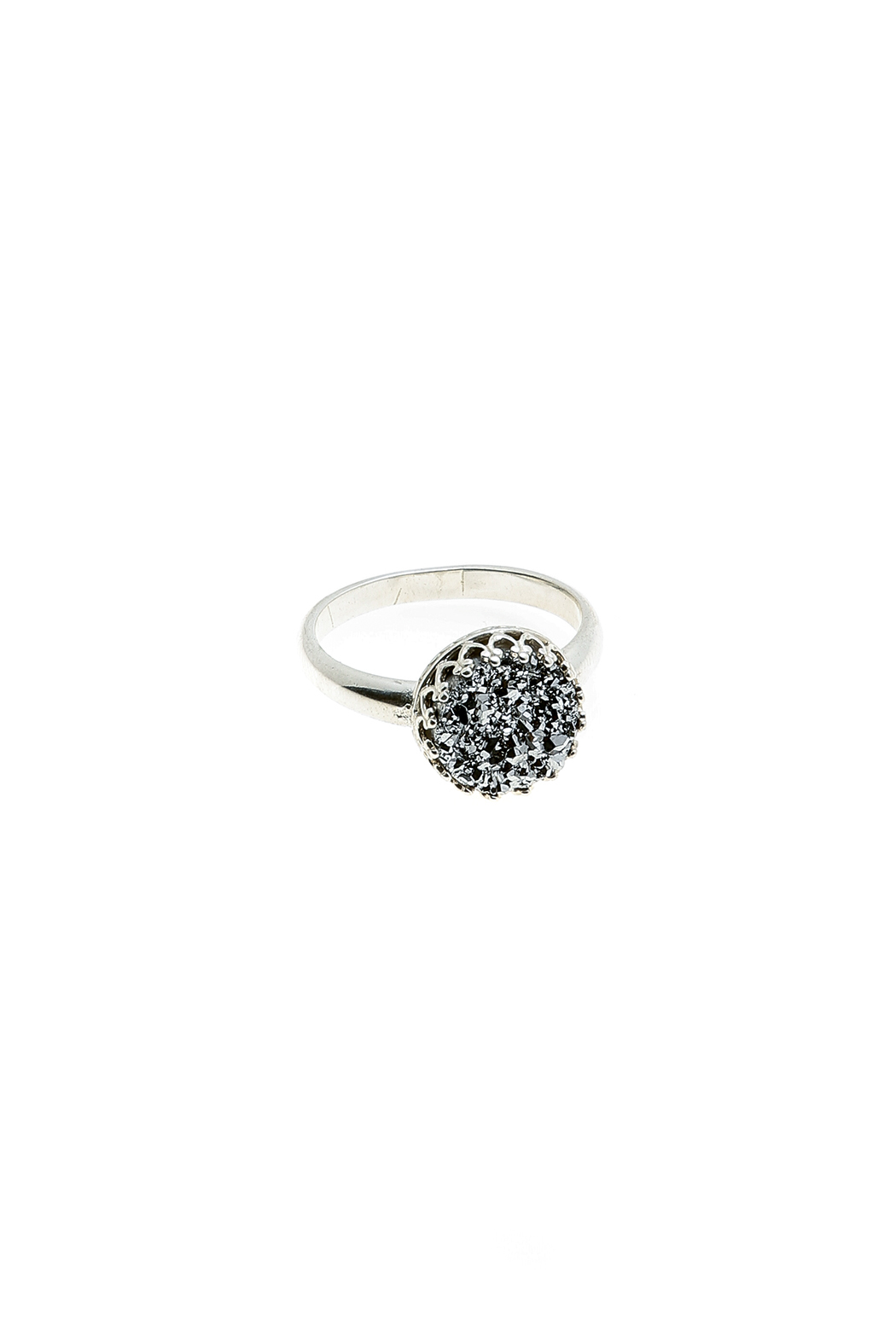 Victoria Greenhood Jewelry Design Silver Druzy Ring - Main Image