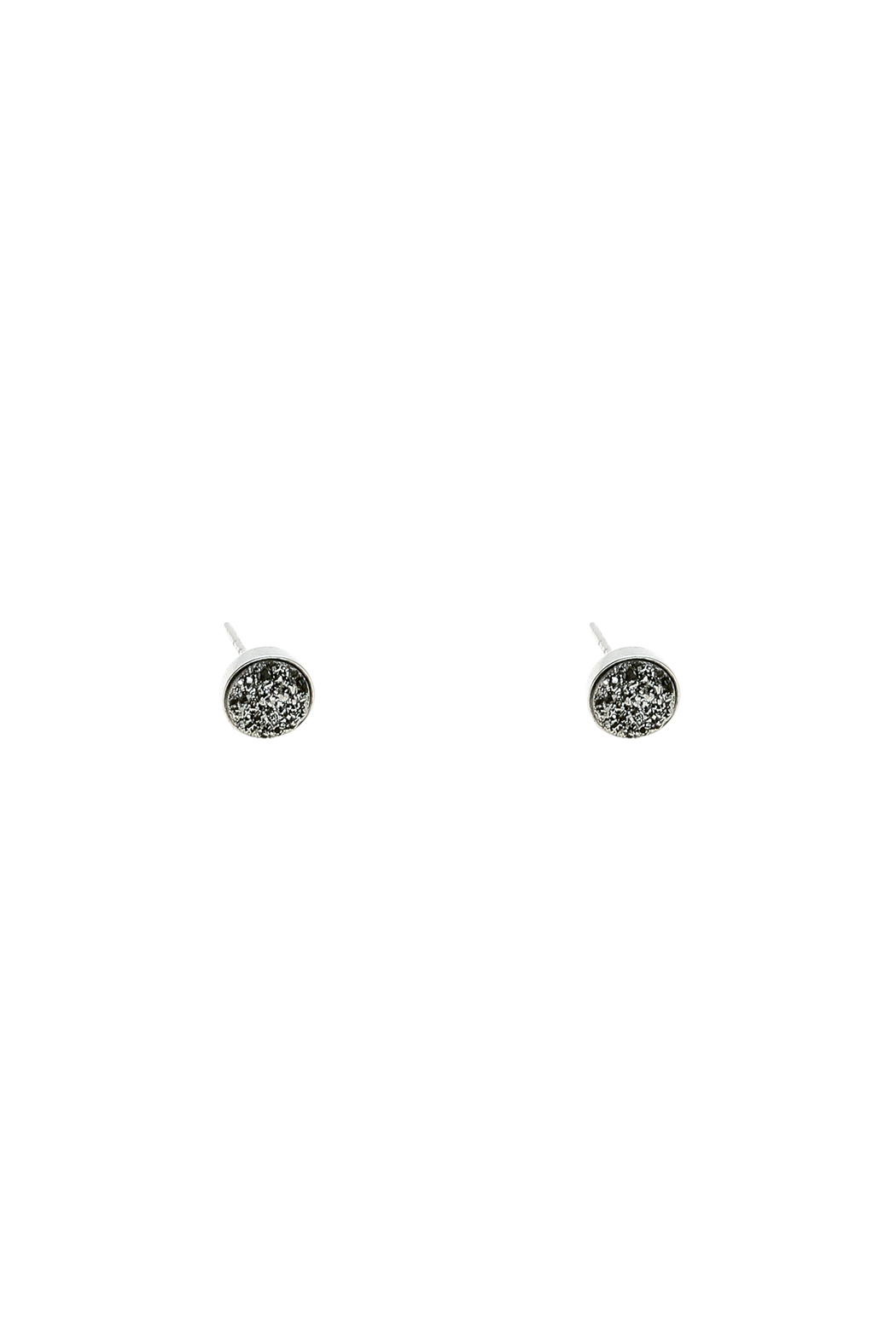 Victoria Greenhood Jewelry Design Small Silver Druzy Studs - Main Image