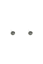 Victoria Greenhood Jewelry Design Small Silver Druzy Studs - Front cropped