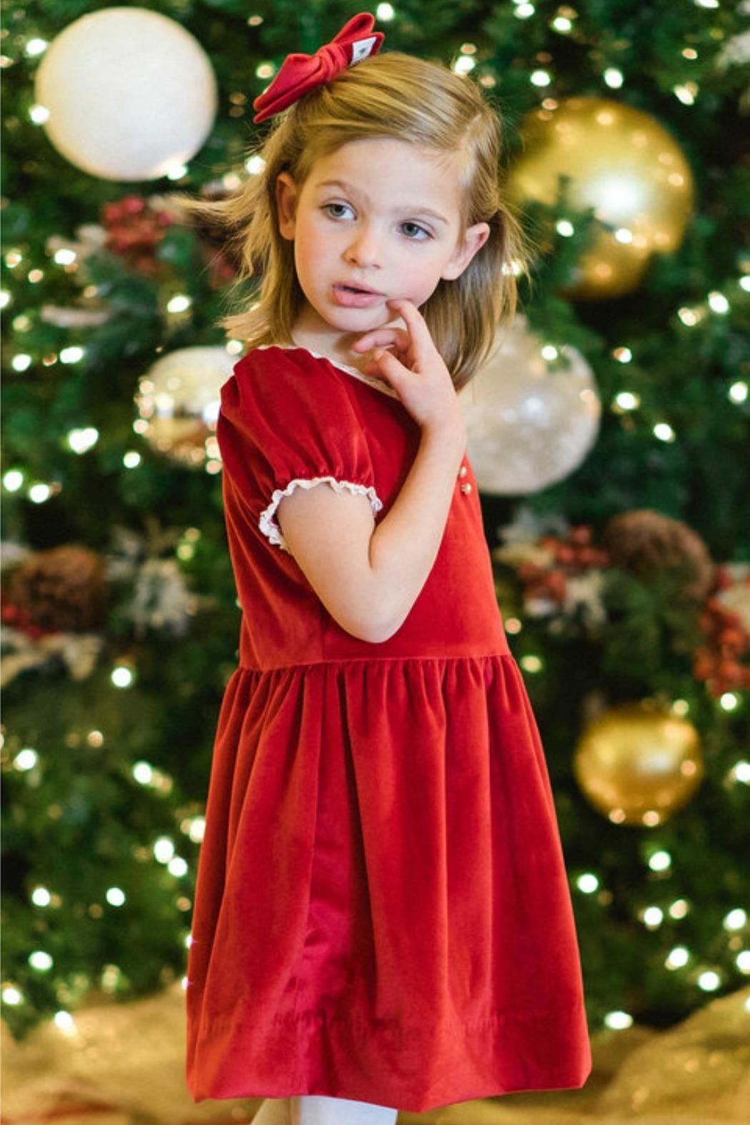 Dondolo Victoria Holiday Dress - Front Cropped Image