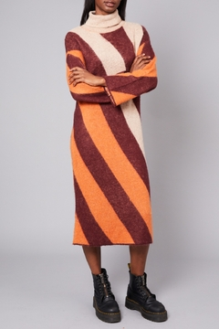 Native Youth Victoria-Stripe Long Dress - Product List Image
