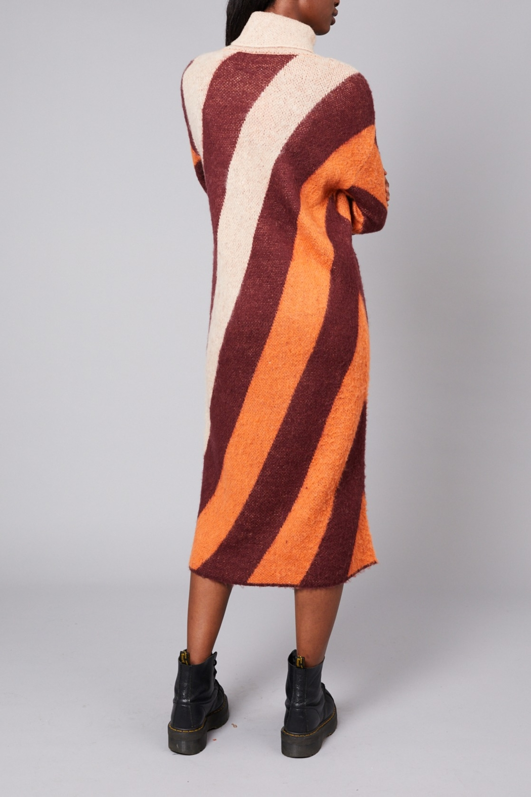 Native Youth Victoria-Stripe Long Dress - Front Full Image