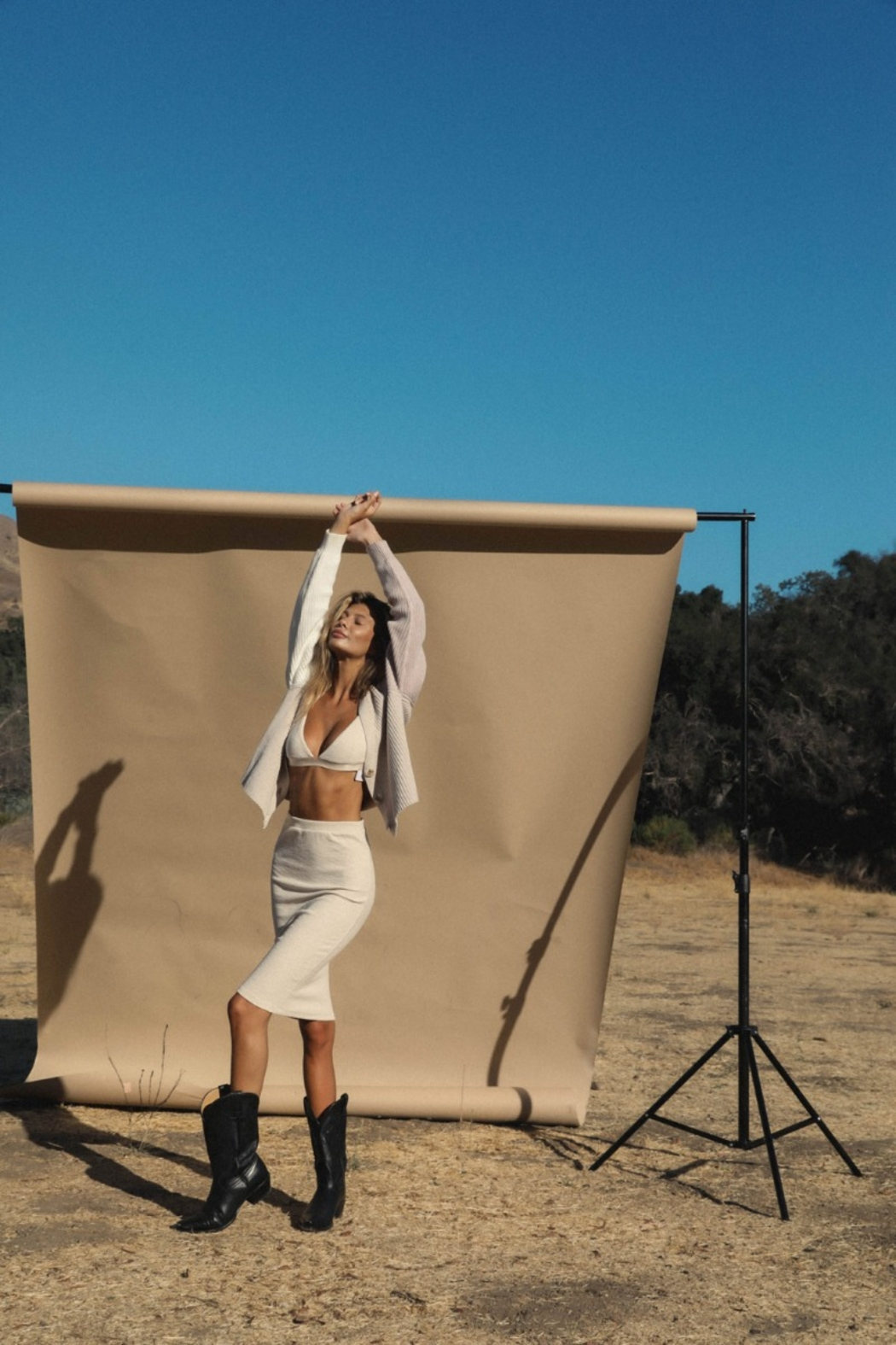 Olivaceous  Victoria Tranigle Bralette - Front Cropped Image