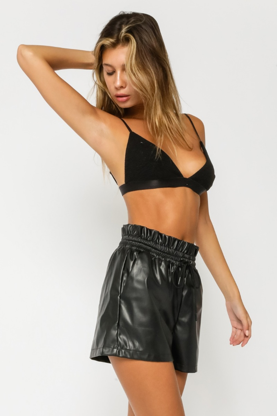 Olivaceous  Victoria Tranigle Bralette - Front Full Image