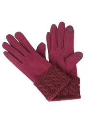 Victoria Leland Designs Knit Texting Gloves - Front cropped