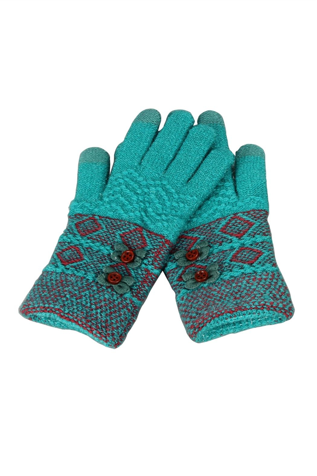 Victoria Leland Designs Knit Texting Gloves - Main Image