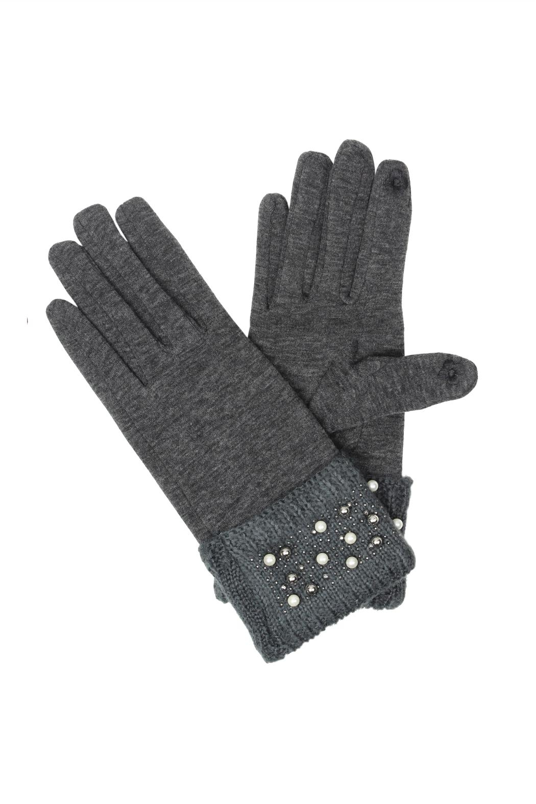 Victoria Leland Designs Pearl Texting Gloves - Front Cropped Image