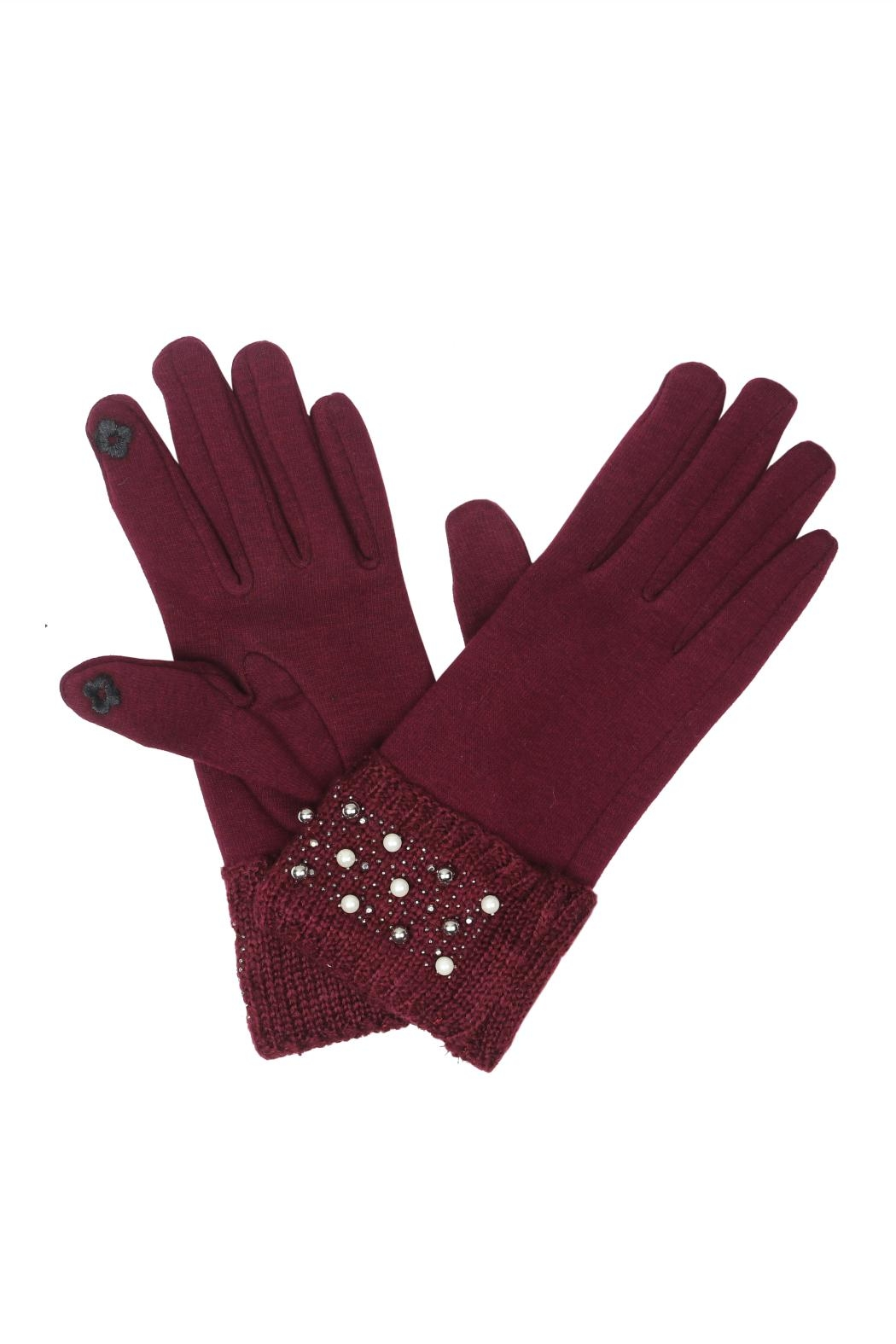 Victoria Leland Designs Pearl Texting Gloves - Main Image
