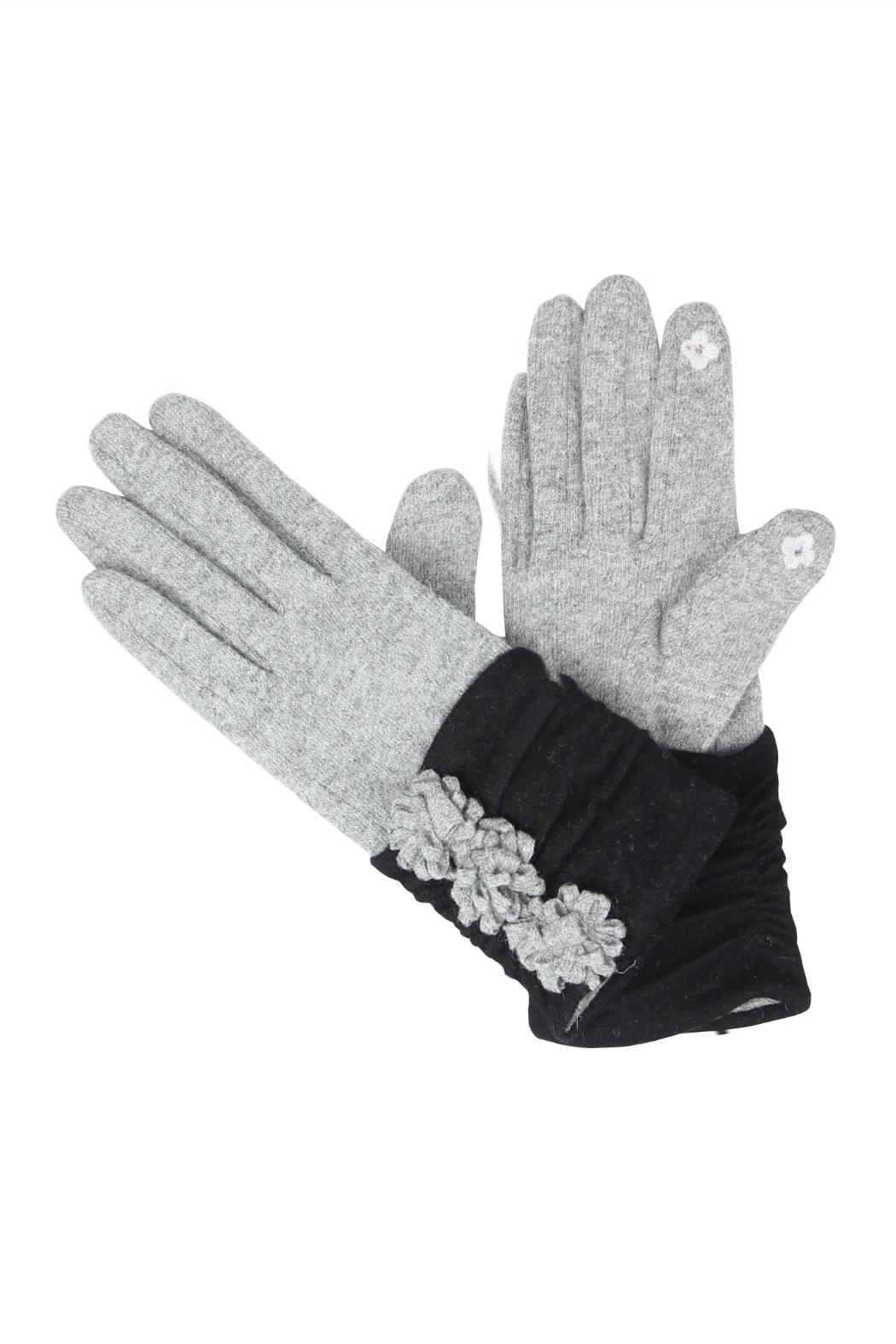 Victoria Leland Designs Wool Texting Gloves - Front Cropped Image