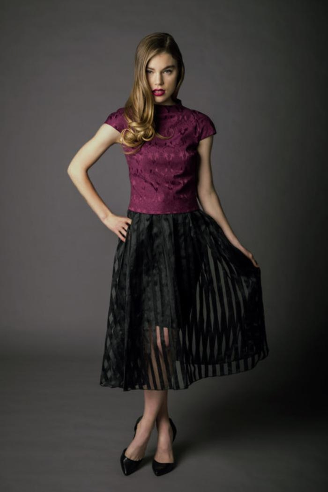 Victoria Wright Grace Organza Skirt - Front Cropped Image
