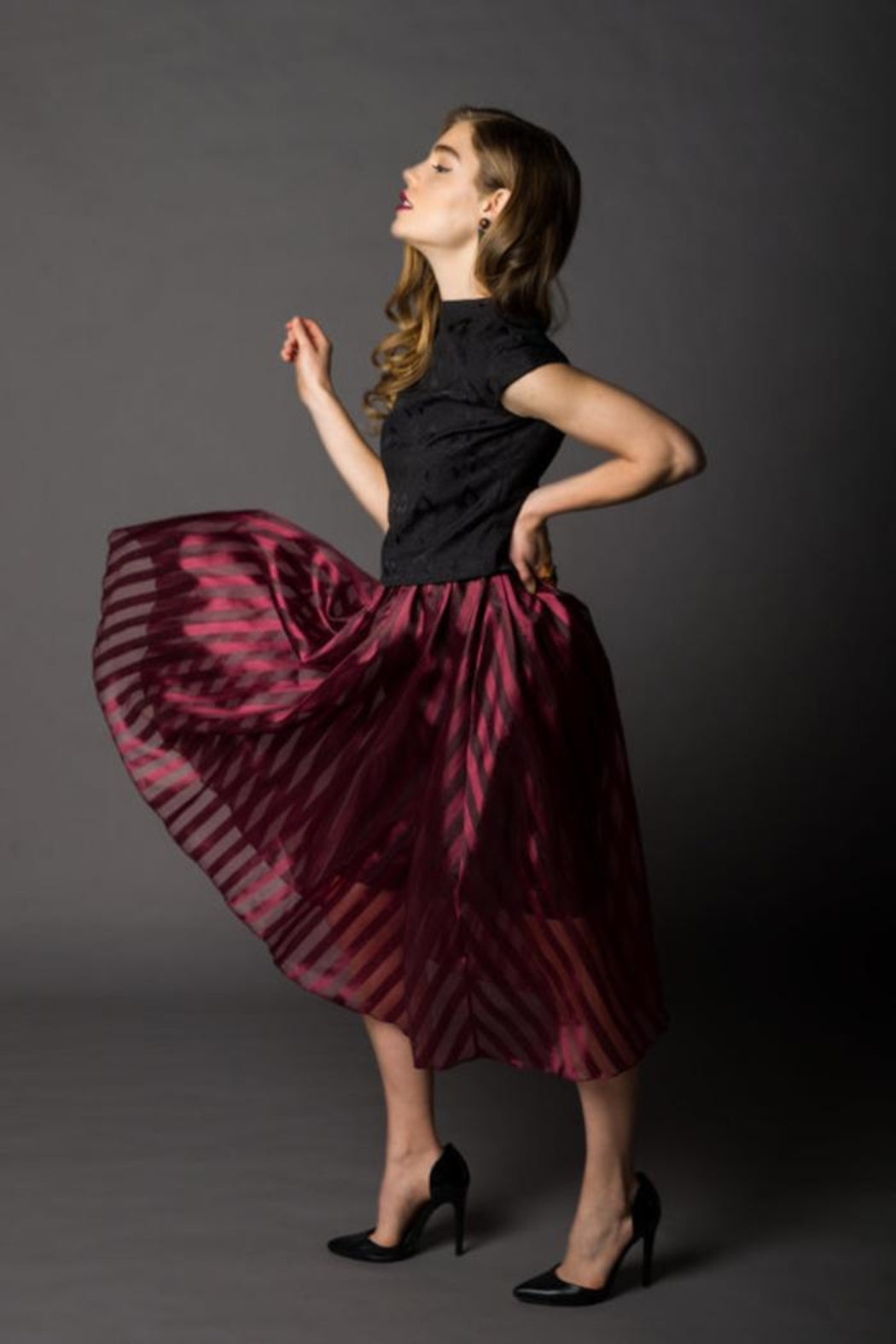 Victoria Wright Grace Organza Skirt - Front Full Image