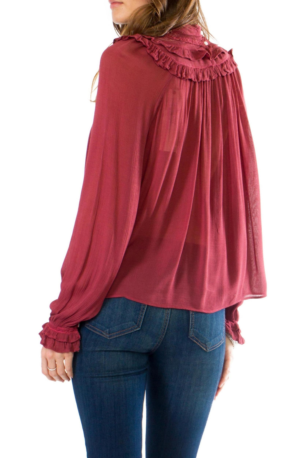 Anama Victorian High-Neck Blouse - Front Full Image