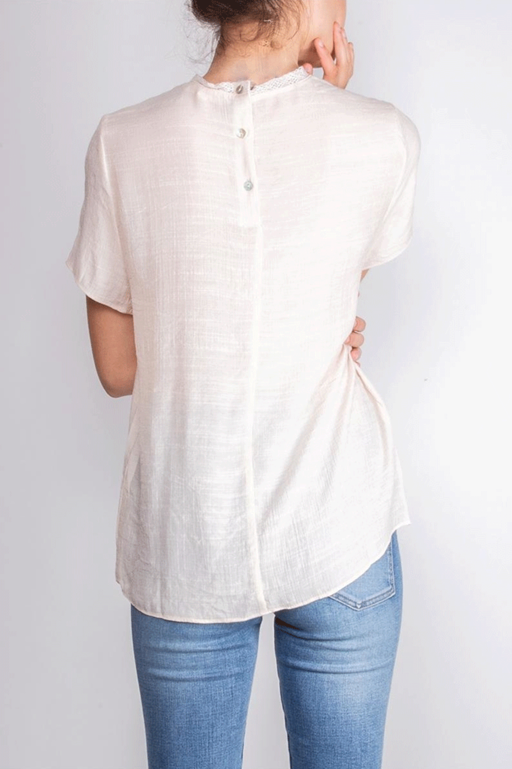 Le Lis Victorian Inspired Blouse - Back Cropped Image
