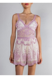 Honey Punch Victorian-Lace Sweetheart Romper - Product Mini Image