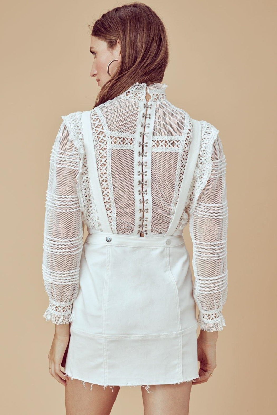 FOR LOVE & LEMONS Victorian Tulle Blouse - Side Cropped Image