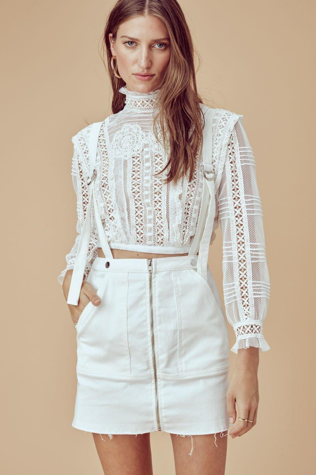FOR LOVE & LEMONS Victorian Tulle Blouse - Main Image