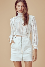 FOR LOVE & LEMONS Victorian Tulle Blouse - Front cropped